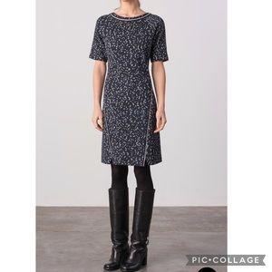 Margaret O'Leary jacquard Debra dress blue Small